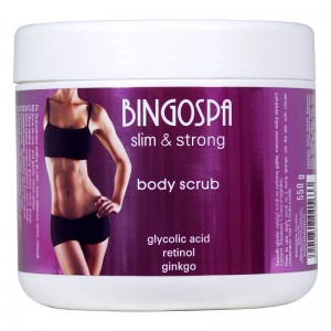 Body Scrub with Glycolic Acid, Retinol and Ginkgo - slim & strong